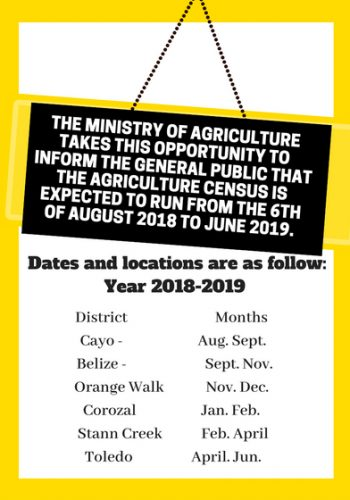 Belize Agriculture Census is here
